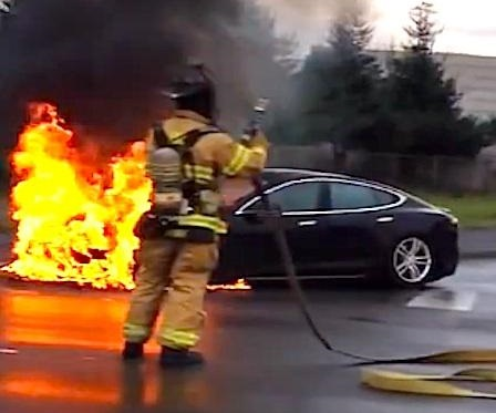 """Electric Vehicle Fires – """"Get over it, there's nothing to see here"""""""