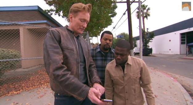 Conan, Ice Cube, and Kevin Hart Share a Lyft Car, Hilarity Ensues