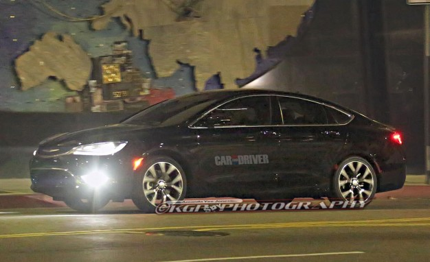 2015 Chrysler 200 Sedan Spied Totally Uncovered Ahead of Detroit Debut!