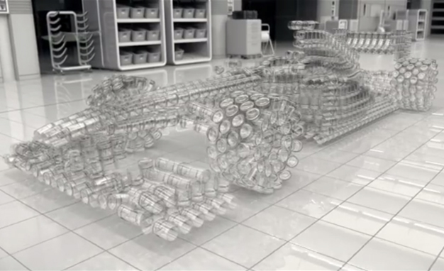 Johnnie Walker Digitally Assembles F1 Car from Glass Tumblers, Smashes It to Discourage Drunk Driving