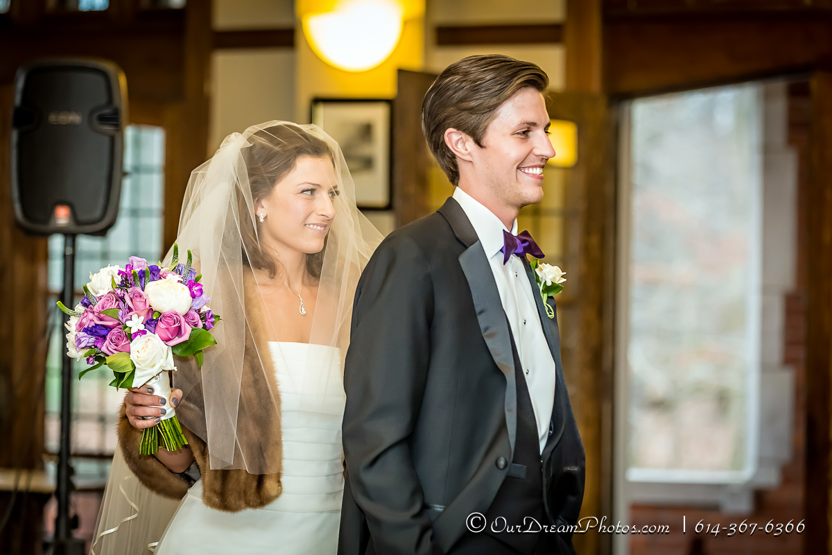 The wedding and reception of Elena Chiappinelli and Robert Casper photographed Friday, January 15, 2016 at the Jeffery Mansion in Bexley, Ohio. (© Allison Leonard | http://OurDreamPhotos.com | 614-367-6366)