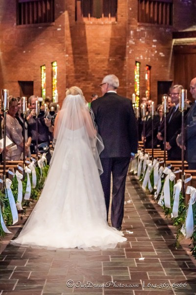 The wedding of Christa Nadler and Nick Orf photographed Saturday, October 3, 2015 at the All Saint Lutheran Church in Worthington, Ohio. (© Abigail L. Grove | http://OurDreamPhotos.com | 614-367-6366)