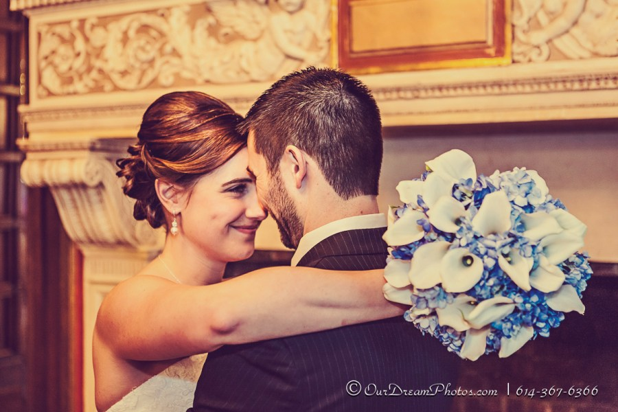 The wedding & reception of Melissa Kennedy & Dave Langton photographed Saturday, February 21, 2015 at The Athletic Club of Columbus. (© James D. DeCamp | http://OurDreamPhotos.com | 614-367-6366)