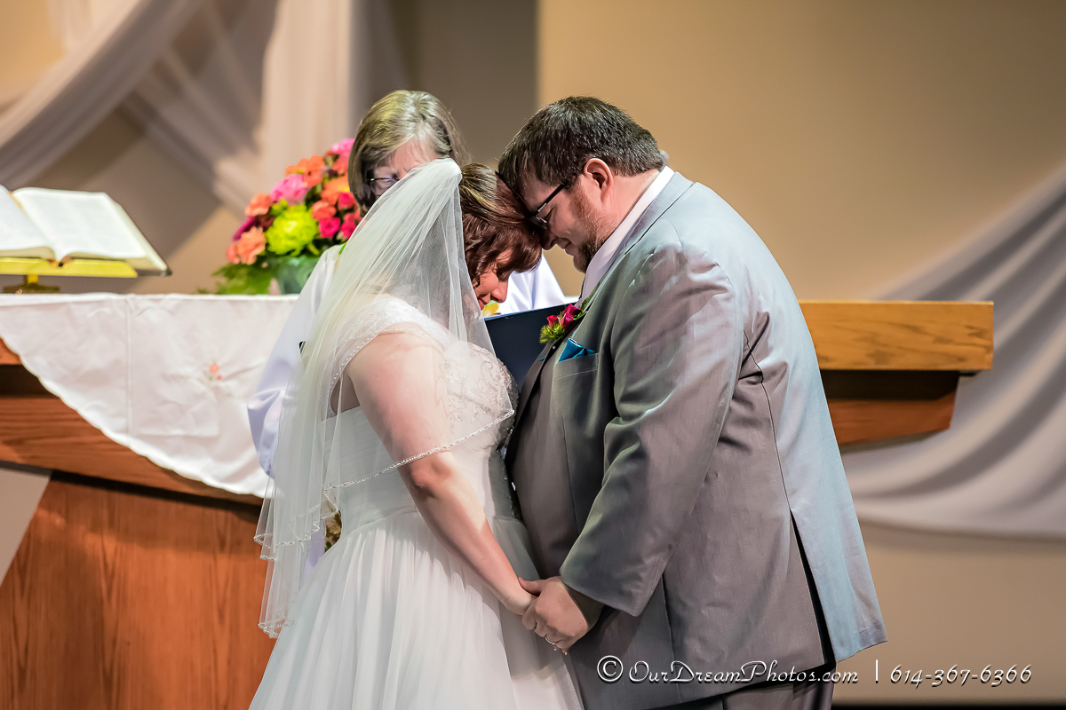 The wedding and reception of Jennifer Holland and Brian Sheldon photographed Saturday, July 29, 2017 at the Stoneybrook UMC and Emswiler Farms. (© James D. DeCamp | http://OurDreamPhotos.com | 614-367-6366)