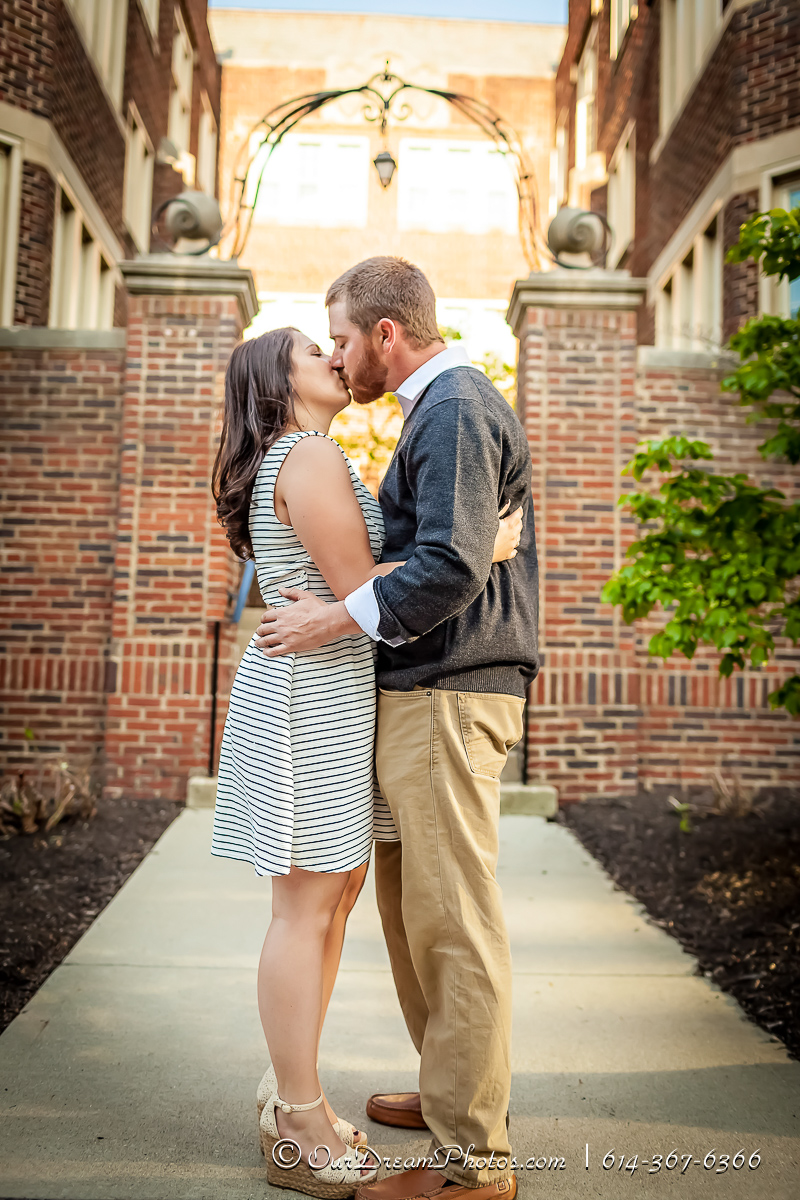 Engagement Session with Danya Ray and John Sizer photographed Thursday, May 5, 2016 on the Ohio State University Campus. (© James D. DeCamp | http://OurDreamPhotos.com | 614-367-6366)
