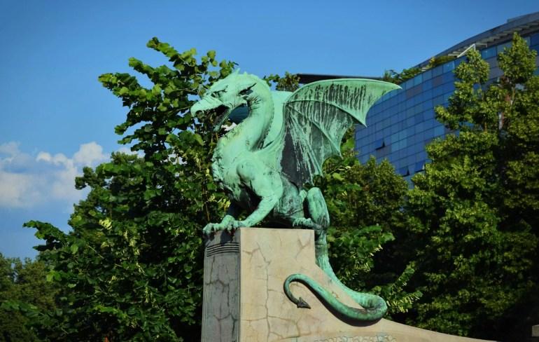 Cost of Travel in Slovenia: Ljubljana Dragon Bridge