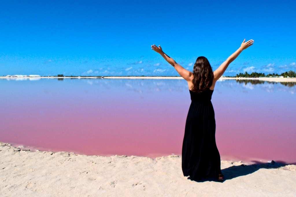 Pink Lakes of Las Coloradas, Mexico