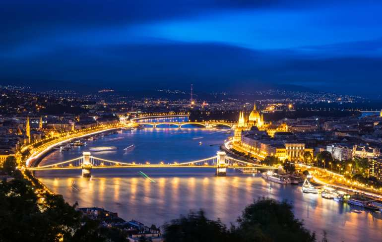 Prague or Budapest: Budapest view of Danube