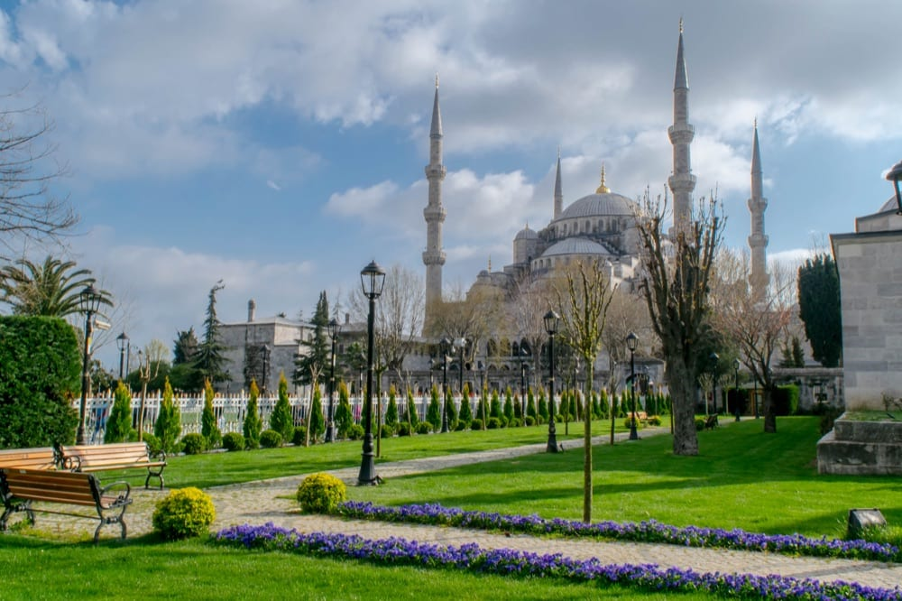 2 Days in Istanbul: view of Blue Mosque