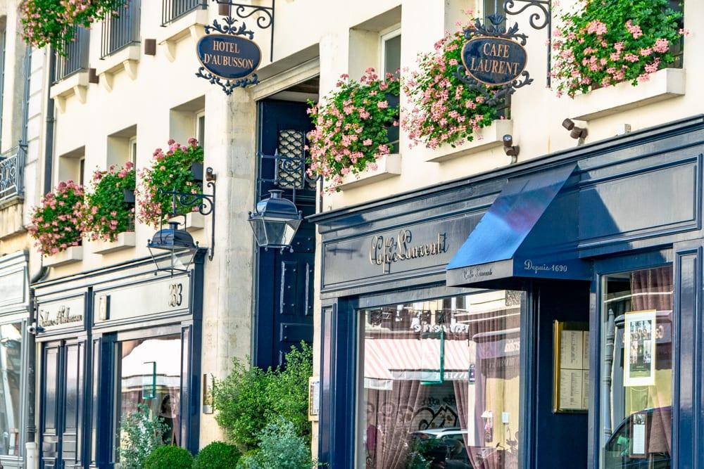 Paris in August: Cafe