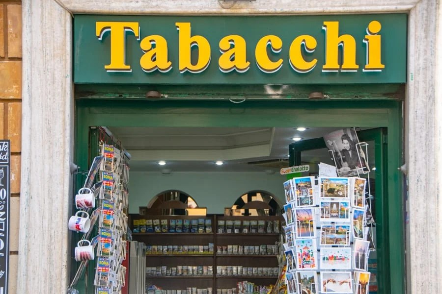 4 Day Rome Itinerary: Tabacchi
