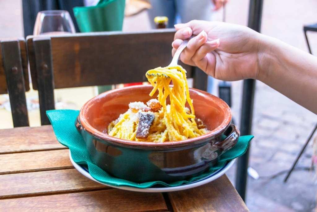 4 Days in Rome Itinerary: Pasta Carbonara