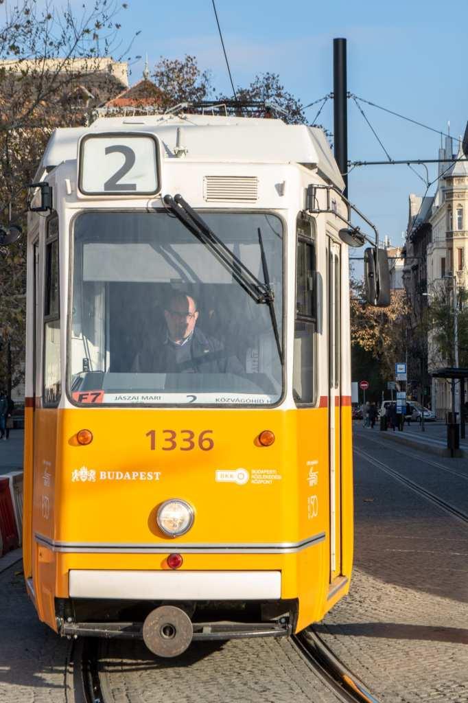 Budapest vs Vienna: Budapest Tram Number 2
