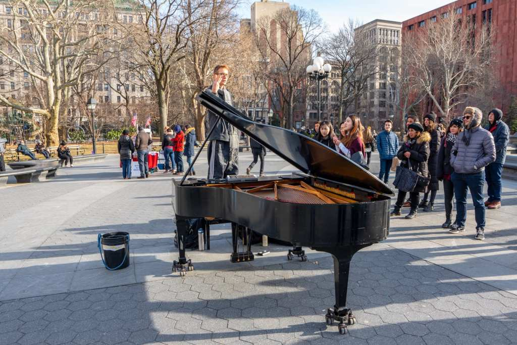 4 Days in New York Itinerary: Piano in Washington Square Park