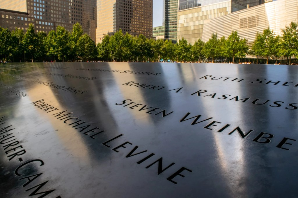 4 Day New York Itinerary: Close up of 9/11 Memorial