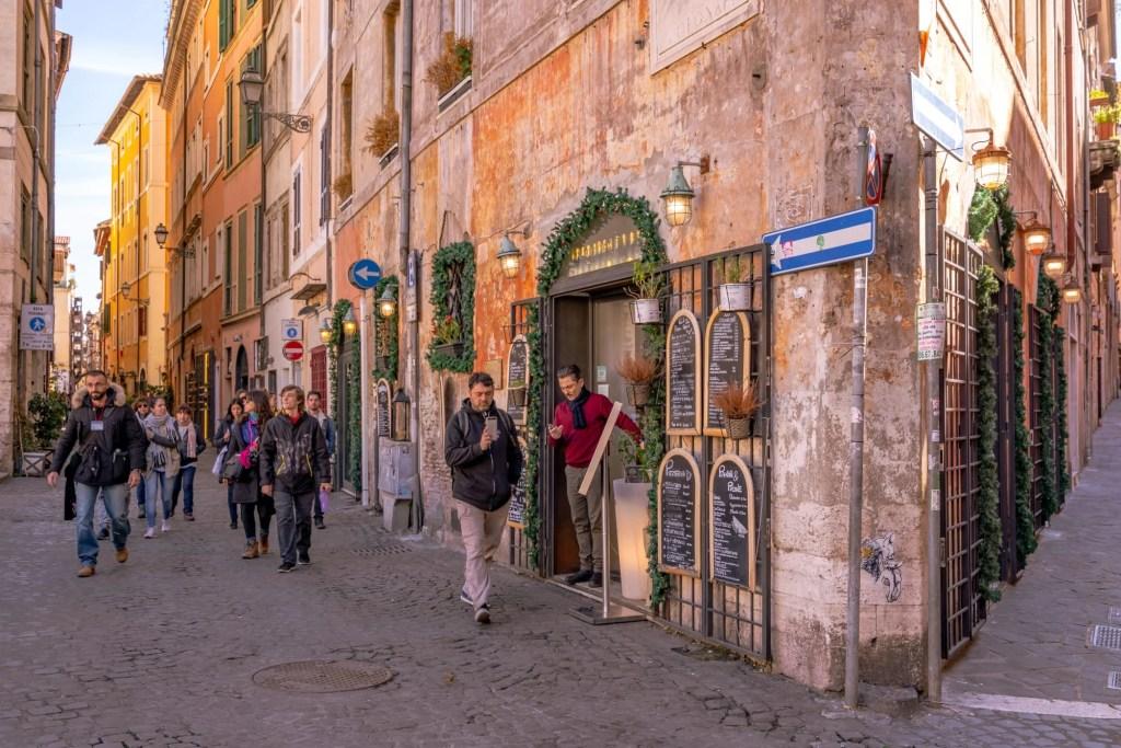 2 Day Rome Itinerary: Street Corner in Centro Storico