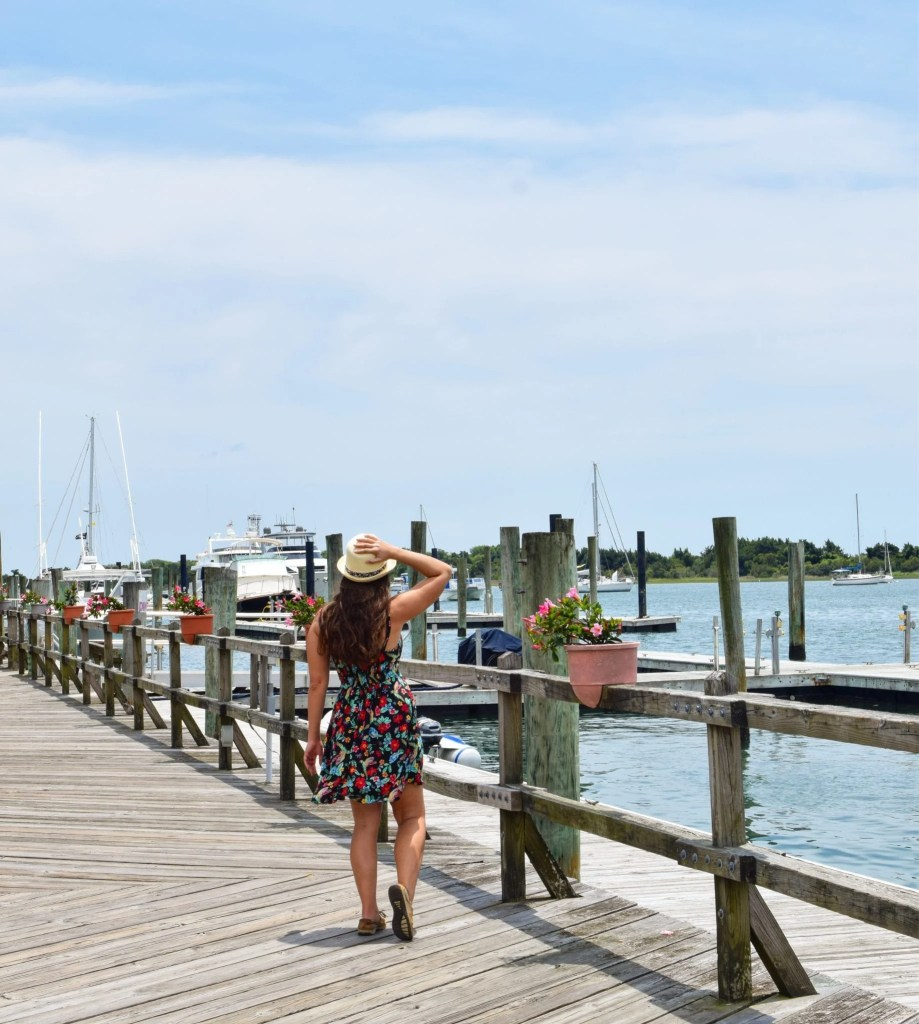 Things to Do in Beaufort NC: girl on dock near Front Street