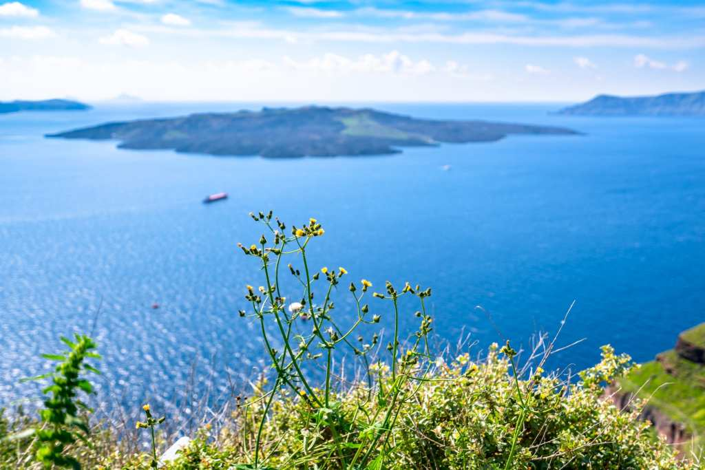View of sea from Santorini: Packing List for Europe Summer