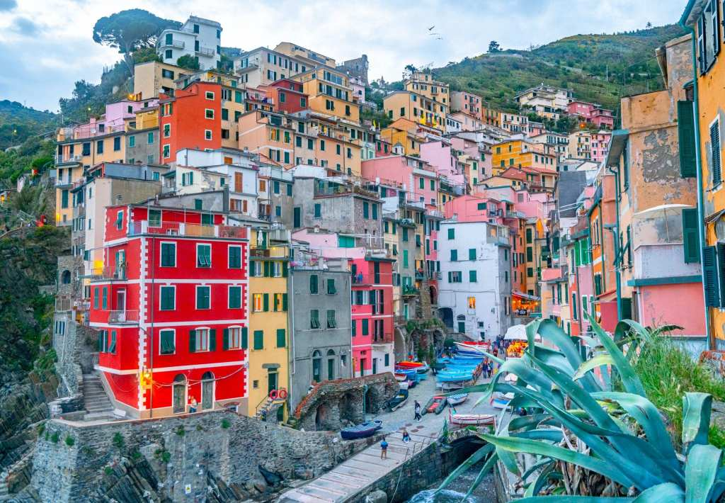 View of Riomaggiore at Sunset, Cinque Terre in One Day