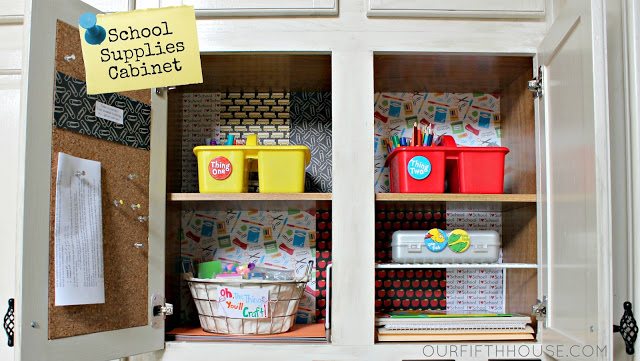 8 Kids Storage And Organization Ideas: Organizing Homework Supplies (Back To School Preparation