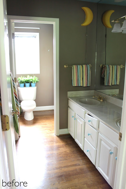 Beautiful kids bathroom makeover story
