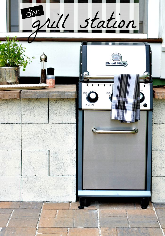 weekend diy - grill station - Our Fifth House on Patio Grill Station  id=62236