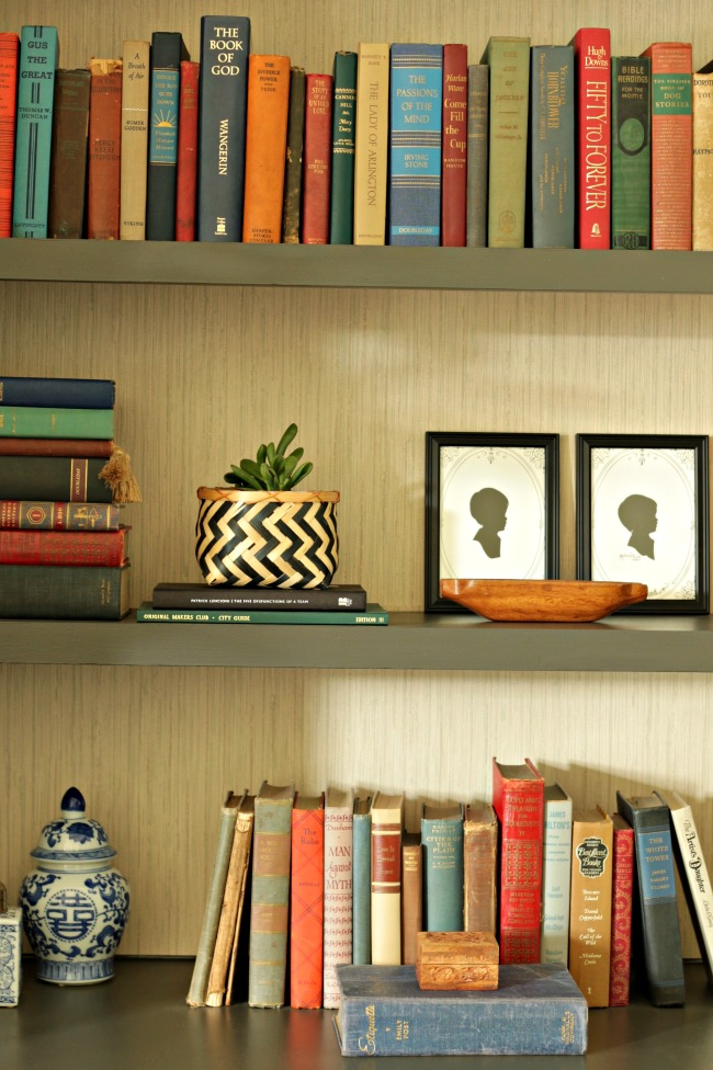 Living Room Bookcases Urbane Bronze And Grasscloth Part 90