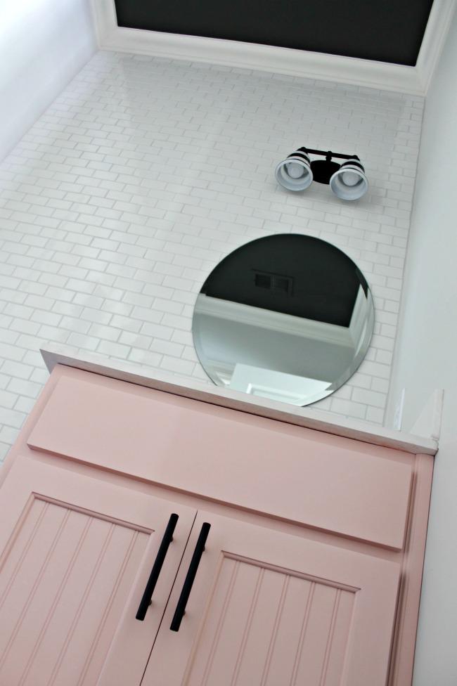 Powder Bathroom Vanity Makeover