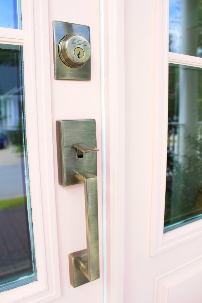 Front Door Makeover with Schlage a Giveaway Our Fifth House