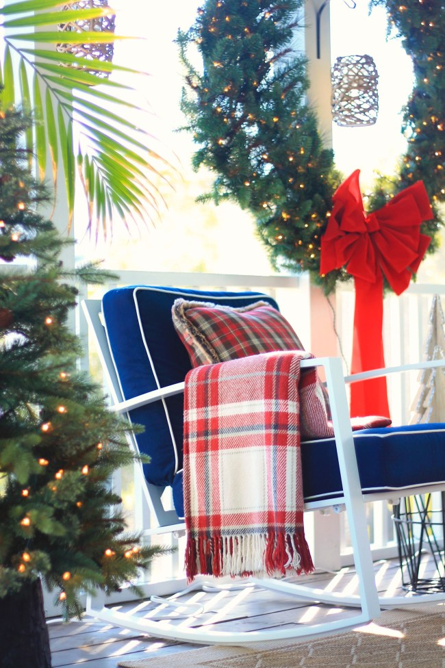 large wreath - holiday porch decor