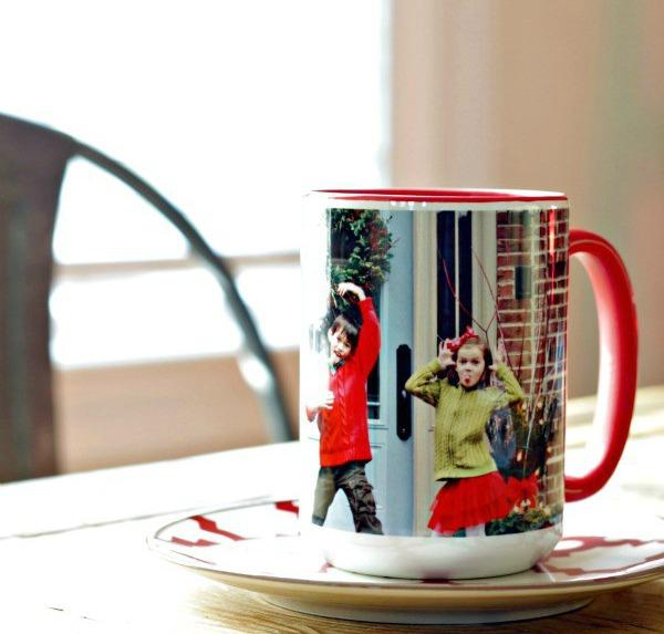 christmas photo coffee mug