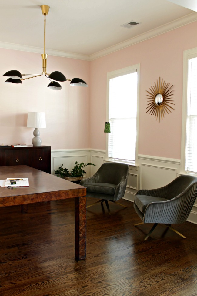pink walls office