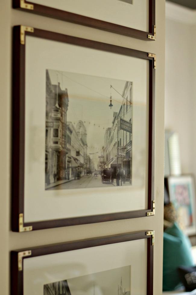 gold corner frames