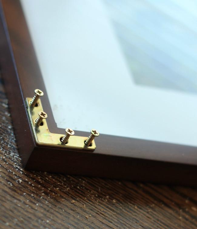 diy gold corner frames
