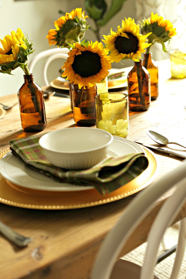 sunflowers centerpiece