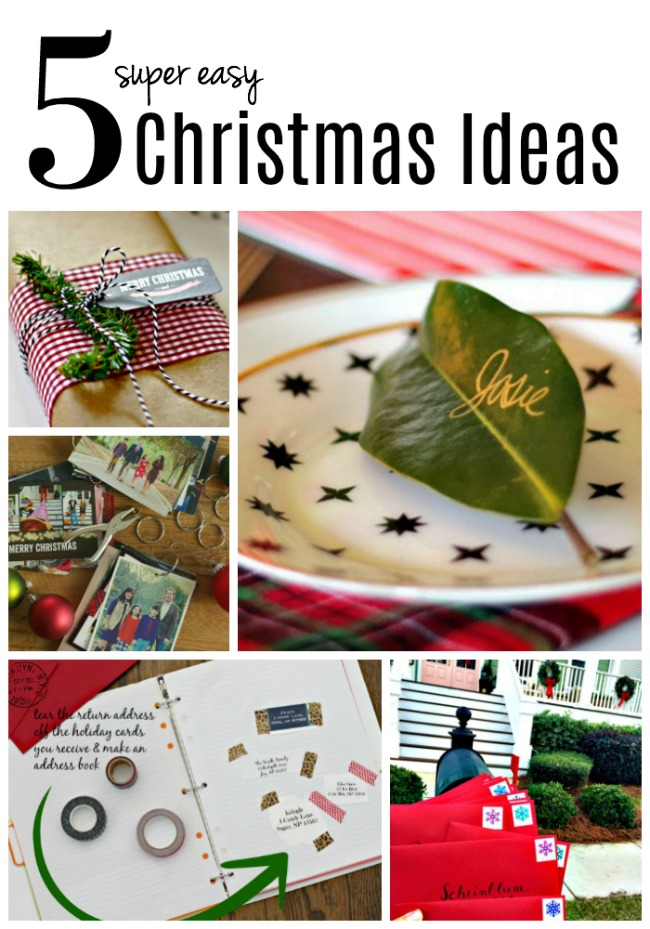 5 super easy christmas ideas