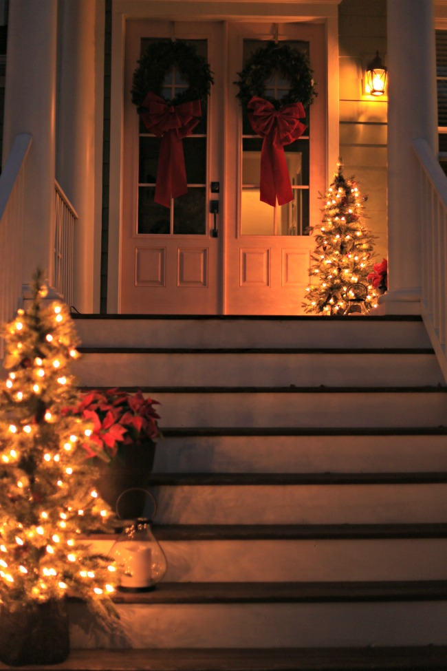 christmas porch lights