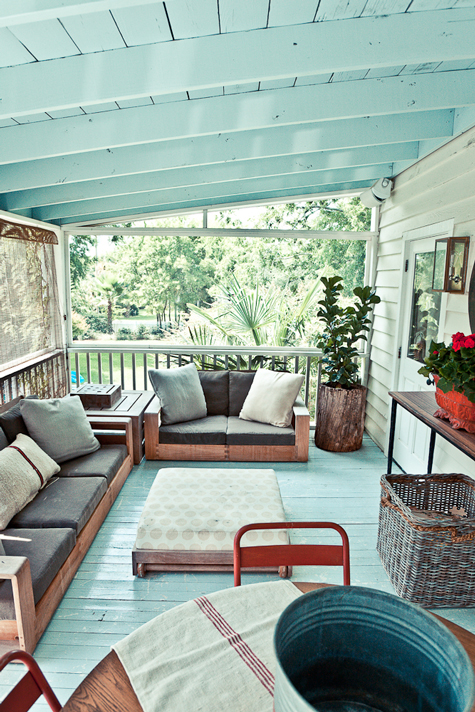 Screen Porch Floor To Paint Or Stain What Color
