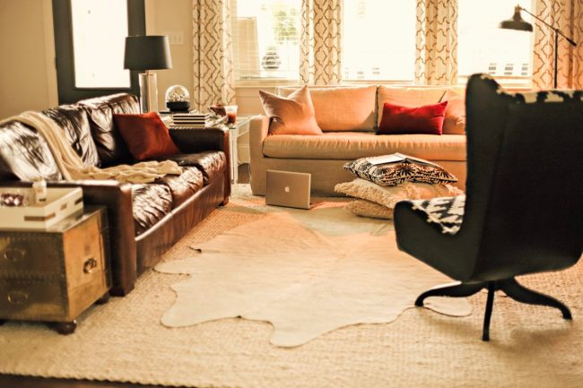 where d you get your brown leather sofa