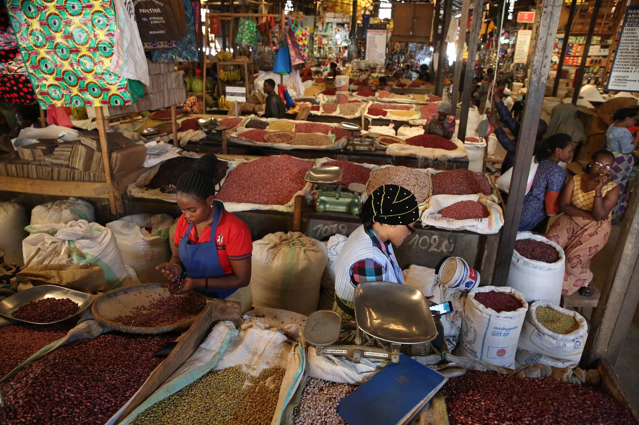 Food market in Kenya, photo by Neil Palmer
