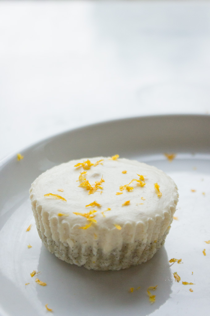 Easy No Bake Meyer Lemon Cheesecakes