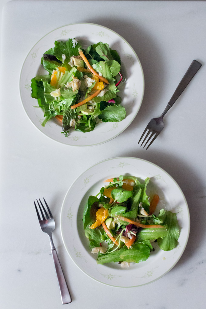 Tropical Crab and Greens Salad + Easter Recipe Roundup