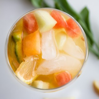 5 Ingredient Sparkling Melon and Citrus Sangria