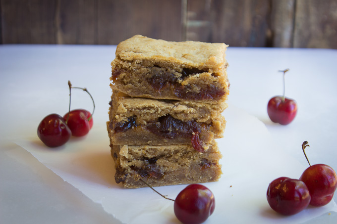 Cherry Jubilee Blondies {Paleo, Gluten-free, Vegan option}