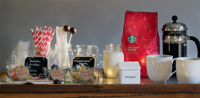 The season of parties has begun. You are likely gearing up to host a holiday celebration, or are just thinking about getting started. Either way, you need your party game to be solid. Your guests are going to need some help keep going all night long. And not just any reinforcements, festive holiday caffeinated reinforcements. And because it is the holidays, you cannot just serve plain old coffee. This time of year is all about elaboration, indulgence, and enjoying good times. After all, they only come once a year. Read through to learn how to Create the Best Gourmet Holiday Coffee Bar, and ways to customize the ingredients and accompaniments to suit your specific tastes. Plus, a special offer to get Starbucks® packaged coffee or K-Cup® pods for your holiday party.Let's jump in. How to Create a Gourmet Holiday Coffee Bar