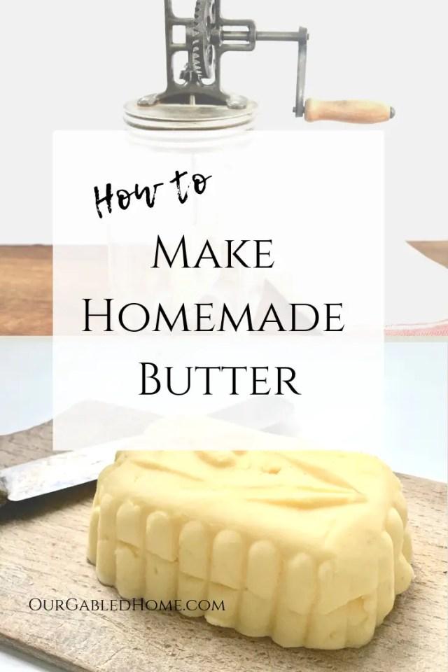 make homemade butter pin