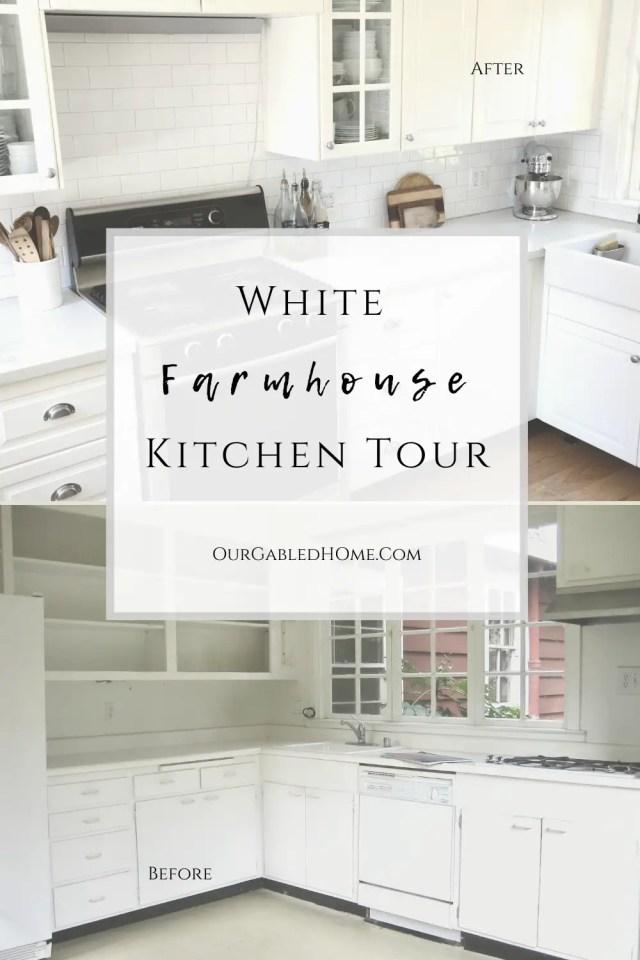 White Ikea Farmhouse Kitchen Tour