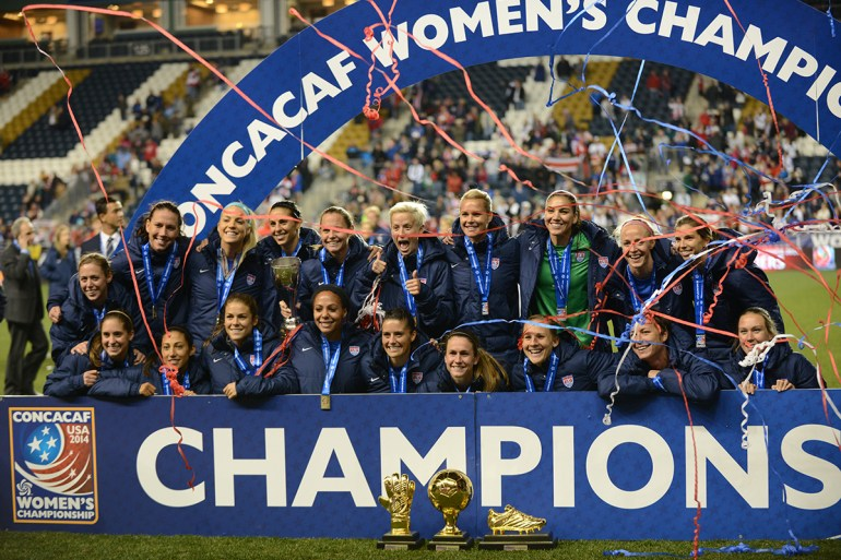 USWNT celebrates its 2014 CONCACAF Women's Championship
