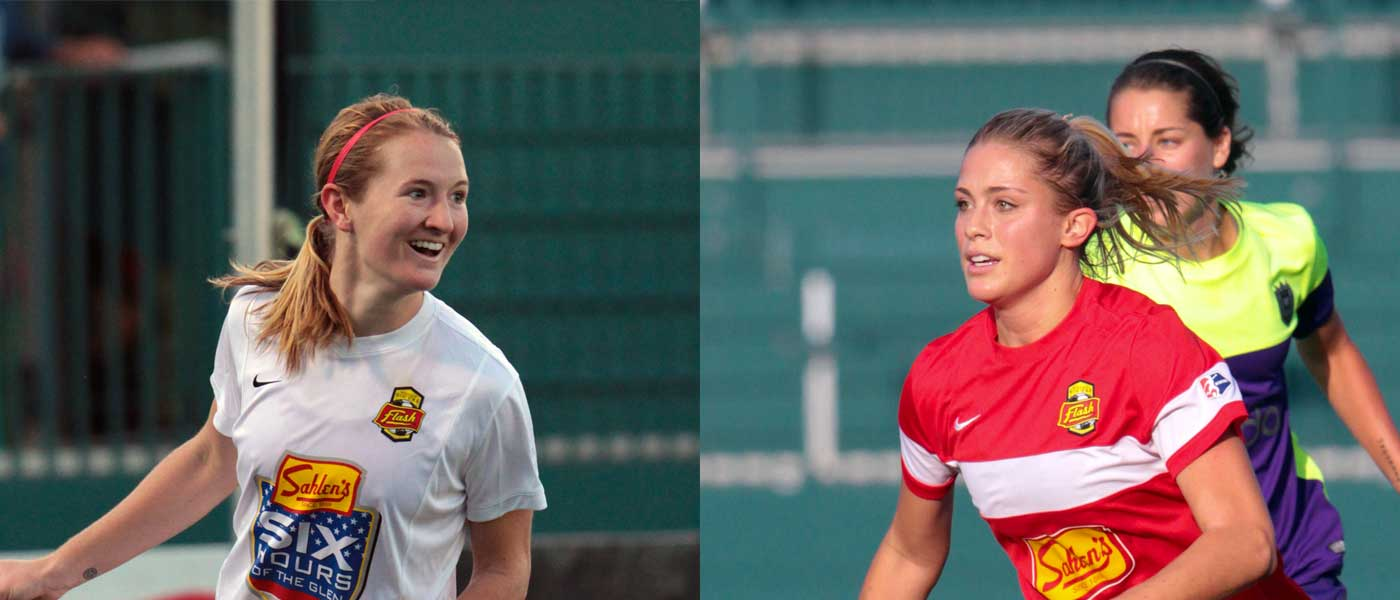 Sam Mewis and Abby Dahlkemper