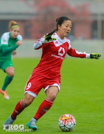 FFC Frankfurt's Yuki Ogimi.